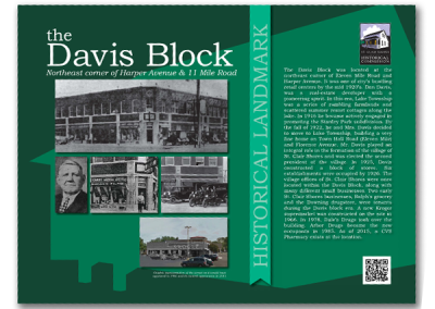 Historical Marker Sign - Davis Block