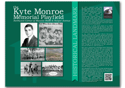 Historical Marker Sign - Kyte Monroe