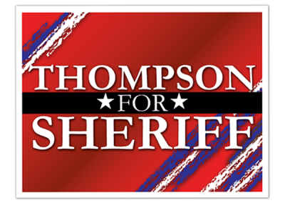 Yard Campaign Sign - Sheriff